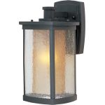 "Bungalow Collection 1-Light 7"" Bronze Outdoor Wall Light with Seedy/Wilshire Glass 3153CDWSBZ"