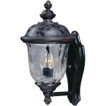 "Carriage House Collection 2-Light 16"" Oriental Bronze Outdoor Wall Light with Water Glass 3422WGOB"