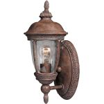 "Knob Hill Collection 1-Light 6"" Sienna Outdoor Wall Light with Seedy Glass 3462CDSE"