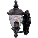 "Carriage House Collection 1-Light 12"" Oriental Bronze Outdoor Wall Light with Water Glass 3495WGOB"