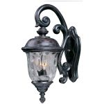 "Carriage House Collection 3-Light 26"" Oriental Bronze Outdoor Wall Light with Water Glass 3497WGOB"