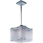 "Swizzle Collection 12-Light 10"" Polished Chrome Pendant with Clear Glass 39704CLPC"