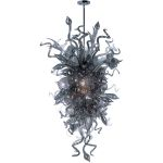 "Mimi Collection 18-Light 59"" Polished Chrome Pendant with Fume Glass 39725FMPC"