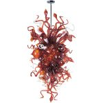 "Mimi Collection 18-Light 59"" Polished Chrome Pendant with Root Beer Glass 39725RBPC"