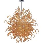 "Mimi Collection 18-Light 42"" Polished Chrome Chandelier with Cognac Glass 39726COPC"