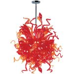 "Mimi Collection 18-Light 42"" Polished Chrome Chandelier with Sunrise Glass 39726SRPC"