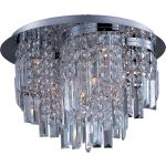 "Belvedere Collection 10-Light 16"" Polished Chrome Flush Mount with Beveled Crystal 39800BCPC"