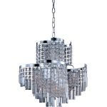 "Belvedere Collection 12-Light 21"" Polished Chrome Pendant with Beveled Crystal 39805BCPC"