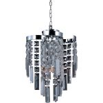 "Belvedere Collection 4-Light 14"" Polished Chrome Pendant with Beveled Crystal 39809BCPC"