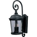 "Dover Collection 3-Light 10"" Bronze Outdoor Wall Light with Seedy Glass 40094CDBZ"