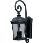 "Dover Collection 3-Light 12"" Bronze Outdoor Wall Light with Seedy Glass 40095CDBZ"