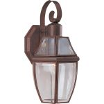 "South Park Collection 1-Light 13"" Pewter Outdoor Wall Light with Clear Glass 4011CLPE"