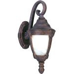 "Wakefield Collection 1-Light 8"" Empire Bronze Outdoor Wall Light with Marble Glass 4033MREB"