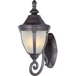 "Wakefield Collection 1-Light 11"" Empire Bronze Outdoor Wall Light with Marble Glass 4034MREB"