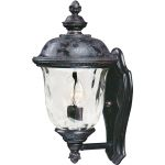 "Carriage House VX Collection 2-Light 16"" Oriental Bronze Outdoor Wall Lantern with Water Glass 40422WGOB"