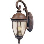"Knob Hill Collection 3-Light 10"" Sienna Outdoor Wall Light with Seedy Glass 40465CDSE"