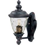 "Carriage House VX Collection 1-Light 12"" Oriental Bronze Outdoor Wall Lantern with Water Glass 40495WGOB"
