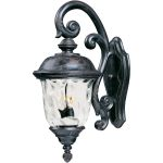 "Carriage House VX Collection 3-Light 26"" Oriental Bronze Outdoor Wall Lantern with Water Glass 40497WGOB"