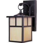 "Coldwater Collection 1-Light 6"" Burnished Outdoor Wall Light with Honey Glass 4053HOBU"