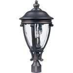 "Camden Collection 3-Light 23"" Golden Bronze Outdoor Pier/Post Mount with Water Glass 41421WGGO"