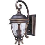 "Camden Collection 2-Light 19"" Golden Bronze Outdoor Wall Light with Water Glass 41424WGGO"