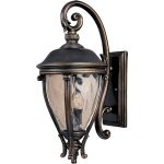 "Camden Collection 3-Light 29"" Golden Bronze Outdoor Wall Light with Water Glass 41426WGGO"