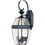 "South Park Collection 3-Light 19"" Black Outdoor Wall Light with Clear Glass 4191CLBK"