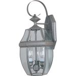"South Park Collection 3-Light 19"" Pewter Outdoor Wall Light with Clear Glass 4191CLPE"
