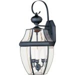 "South Park Collection 3-Light 23"" Black Outdoor Wall Light with Clear Glass 4192CLBK"