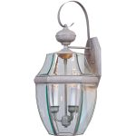 "South Park Collection 3-Light 23"" Pewter Outdoor Wall Light with Clear Glass 4192CLPE"