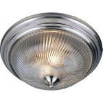 "Essentials Collection 2-Light 13"" Satin Nickel Flush Mount with Clear Glass 5827CLSN"