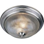 "Essentials Collection 3-Light 15"" Satin Nickel Flush Mount with Clear Glass 5828CLSN"