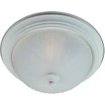 "Essentials Collection 1-Light 11"" Textured White Flush Mount with Frosted Glass 5830FTTW"
