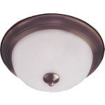 "Essentials Collection 2-Light 13"" Oil Rubbed Bronze Flush Mount with Frosted Glass 5831FTOI"