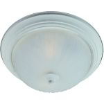 "Essentials Collection 2-Light 13"" Textured White Flush Mount with Frosted Glass 5831FTTW"