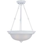 "Essentials Collection 3-Light 24"" White Pendant with Frosted Glass 5835FTWT"
