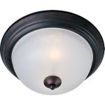 "Essentials Collection 2-Light 13"" Oil Rubbed Bronze Flush Mount with Frosted Glass 5841FTOI"