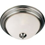"Essentials Collection 2-Light 13"" Satin Nickel Flush Mount with Frosted Glass 5841FTSN"