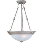 "Essentials Collection 3-Light 24"" Pewter Pendant with Marble Glass 5845MRPE"