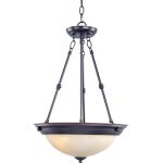 "Essentials Collection 3-Light 24"" Oil Rubbed Bronze Pendant with Wilshire Glass 5845WSOI"