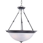 "Essentials Collection 3-Light 24"" Oil Rubbed Bronze Pendant with Marble Glass 5846MROI"