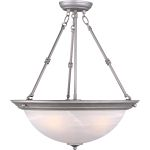 "Essentials Collection 3-Light 24"" Pewter Pendant with Marble Glass 5846MRPE"
