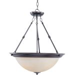 "Essentials Collection 3-Light 24"" Oil Rubbed Bronze Pendant with Wilshire Glass 5846WSOI"