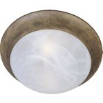 "Essentials Collection 1-Light 12"" Acorn Flush Mount with Marble Glass 5850MRAC"