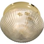 "Essentials Collection 2-Light 9"" Polished Brass Flush Mount with Clear Glass 5883CLPB"
