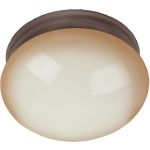 "Essentials Collection 2-Light 9"" Oil Rubbed Bronze Flush Mount with Wilshire Glass 5887WSOI"