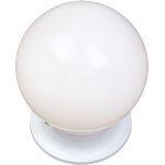 "Essentials Collection 1-Light 6"" White Flush Mount with White Glass 5889WTWT"