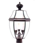 "South Park Collection 3-Light 23"" Burnished Outdoor Pier/Post Mount with Clear Glass 6098CLBU"
