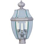 "South Park Collection 3-Light 23"" Pewter Outdoor Pier/Post Mount with Clear Glass 6098CLPE"