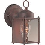 "Side Door Collection 1-Light 4"" Country Stone Outdoor Wall Light with Clear Glass 6879CLCS"